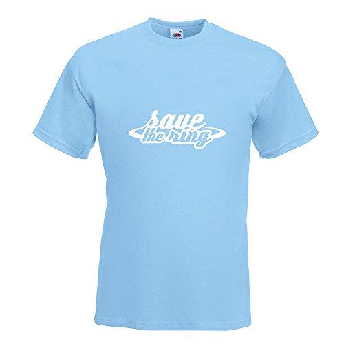 KIWISTAR - Save The Ring - Motorsport - Rennstrecke T-Shirt in 15 verschiedenen Farben - Herren Funshirt bedruckt Design Sprüche Spruch Motive Oberteil Baumwolle Print Größe S M L XL XXL Himmelblau