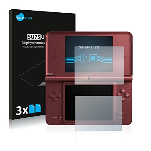 Savvies Nintendo DSi XL Schutzfolie [6er Pack] - Folie Displayschutzfolie klar Displayfolie