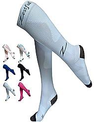 Calcetines de Compresión Zestful - correr, ciclismo, gimnasio, viajes en avión - (Par 20-30 mmHg) - recuperación y rendimiento deportivo para hombres y mujeres - Compresión firme para mejorar la circulación y aumentar la energía