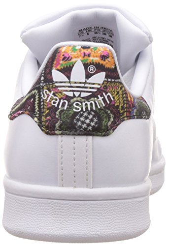 adidas Stan Smith W, Basket femme Blanc (Footwear White/Footwear White/Mid Grey)