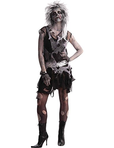 ostume Fancy Dress (Womens Punk Zombie Kostüm)