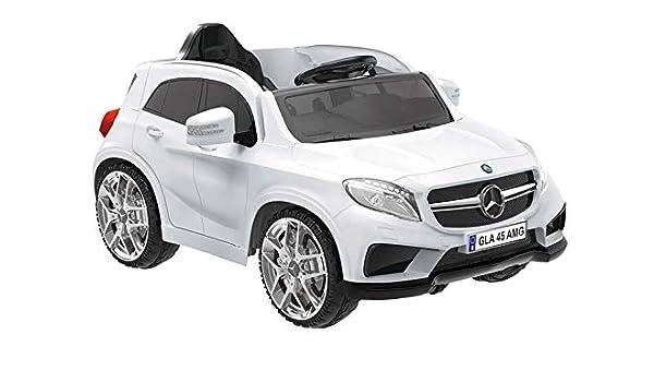 Auto Macchina Elettrica Mercedes A45 AMG BIANCA 12V 1 Posto Per Bambini