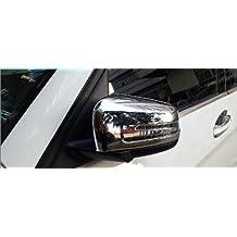 BEESCLOVER 2 Piezas ABS Cromado Lateral Puerta Trasera Espejo Marco embellecedor Coche Accesorio para Mercedes Benz