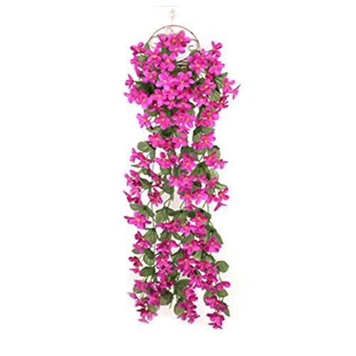 Alikena viola di simulazione, fiore di vite rampicante appeso a parete, cucina da esterno per interni in famiglia cucina da ufficio festa in giardino, decorazione per composizione di bouquet da method