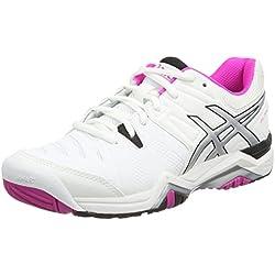 ASICS Gel-Challenger 10 - Zapatillas de tenis para mujer, color blanco (white/pink glow/black 0135), talla 42.5