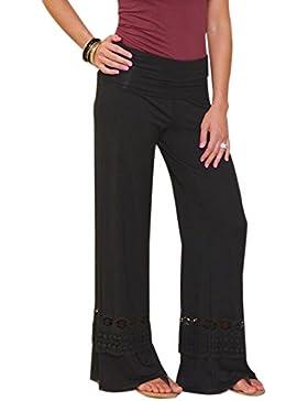 QIYUN.Z Pantaloni sportivi in cotone elasticizzato Pantaloni da ginnastica Pantaloni sportivi a gamba larga Pantaloni...