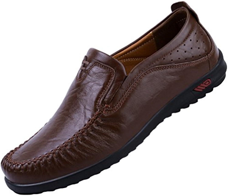Yiiquan Herren Britischer Stil Schuhe Slipper  Atmungsaktiv weissher Boden Geschaumlft Herrenschuhe