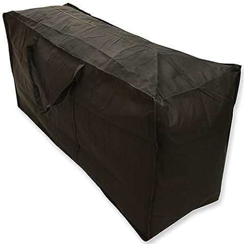 Woodside Water Resistant Outdoor Garden Furniture Cushion Storage Bag Case Black Heavy Duty