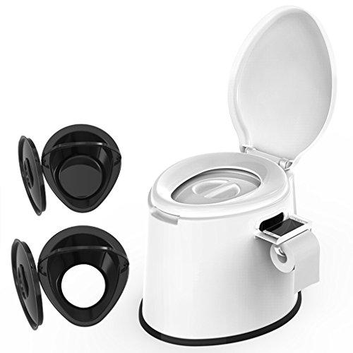 LI JING SHOP - La chaise portative de toilette peut se déplacer toilettes toilettes squat double usage pour les enfants et les femmes enceintes Canon intérieur X2 Environmental PP résine 41X50X39cm Couleur: kaki, blanc ( Couleur : Blanc , taille : #-002 )