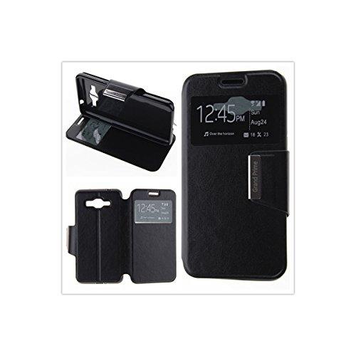 MISEMIYA - Funda Compatible con Samsung Galaxy Grand Prime (G530FZ) - Funda Solo, Libro View Sporte,Negro