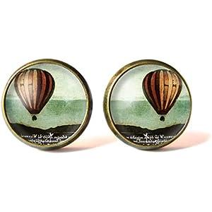 Ohrstecker mit Cabochons ° Heißluftballon °