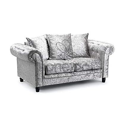 Honeypot - Sofa - Fulham - Crushed Velvet - 3 + 2 Sofa - Cushions included (2 Seater)