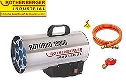ROTHENBERGER Industrial Gas – Heiz – Kanone / Gebläse inkl. Schlauch und Regler, 18,2 kW