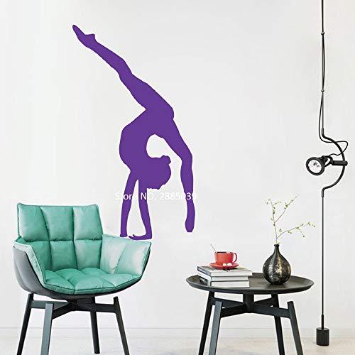 Ajcwhml Vinyl Wand Applique Art Gymnastik Aufkleber Sport Wandbild Innenwand Schlafzimmer Art Deco Gym Poster 42cm x 73cm - Doodle-pop-art