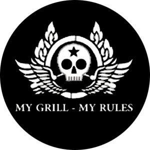 MY GRILL MY RULES Aufkleber Autoaufkleber Sticker Vinylaufkleber Decal