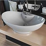 Design Keramik Waschbecken Waschtisch Waschschale Aufsatzwaschbecken oval KBW005