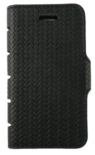 Emartbuy® Apple Iphone 5 5s Cuir Pu Slim 2 En 1 Wallet Case Etui Coque Noir / Tan Avec Des Logements Pour Carte De Crédit