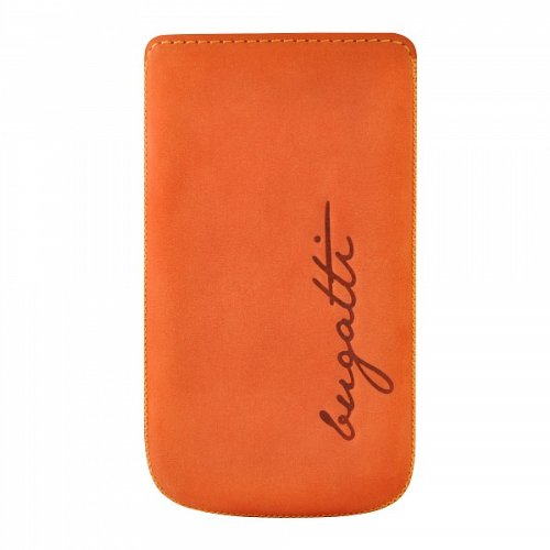 bugatti PerfectVelvety Ledertasche für Apple iPhone 4/4S mandarin
