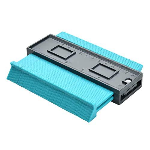 Yizhet 125 mm Medidor de Contornos para Suelo Herramienta de Medición de Perfil de Plástico Duplicador de Medidor de Contorno Herramienta de Marcado de Madera Azulejos laminados Regla de Medición