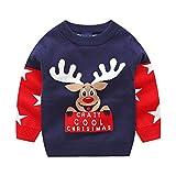 i-uend Weihnachten Baby Pullover, Kleinkind Kleinkind Baby Kinder Mädchen Xmas Hirsch gestrickt Tops Pullover Outfits für 1-6 Jahre