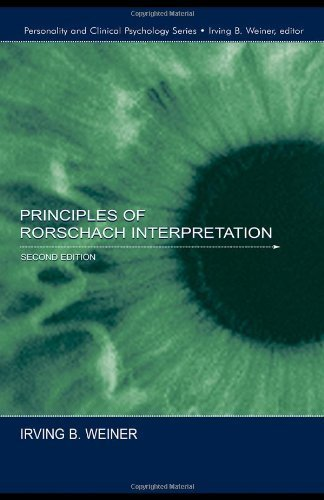 Principles of Rorschach Interpretation (Lea's Personality and Clinical Psychology) by Weiner, Irving B. (2003) Hardcover