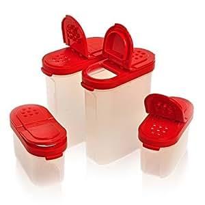 tupperware spice shakers set of 4 shakers musikinstrumente. Black Bedroom Furniture Sets. Home Design Ideas