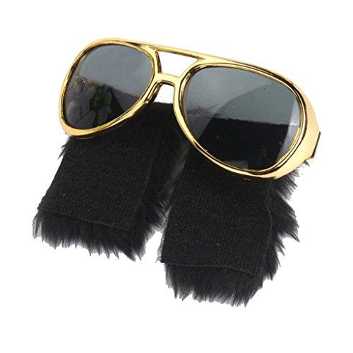 F Fityle Damen Herren 70er 80er Jahre Typ Kostüm Sonnenbrille Partybrille Foto Booth Props Vintage Sunglasses,