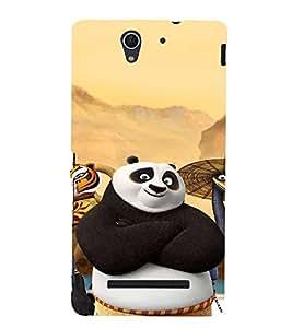 EPICCASE Cool Panda Mobile Back Case Cover For Sony Xperia C3 (Designer Case)