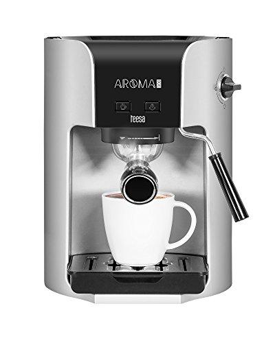 Teesa, Aroma 300,macchina per caffè manuale, 1,5l, 1400Watt, colore argento/nero 144