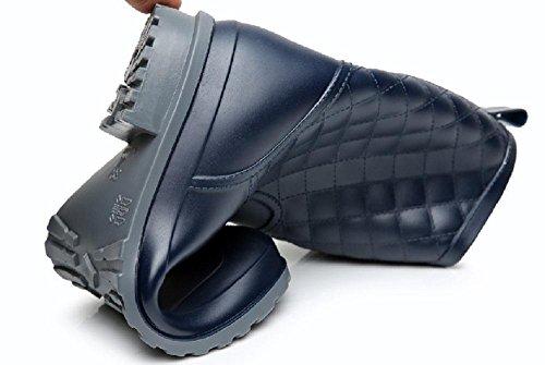 Mode rutschfeste Damen regen Stiefel Blue