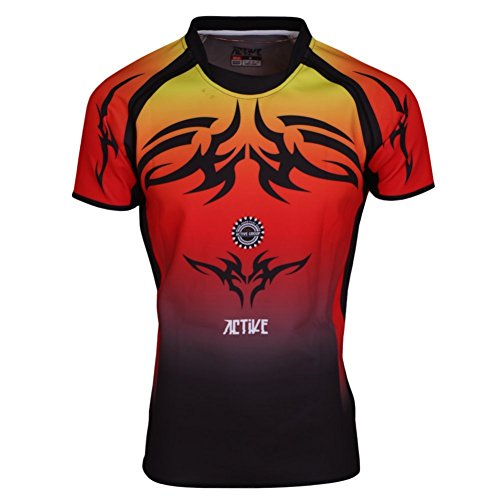 Dry Fit Sports Wear de manga corta Camiseta Rugby Hockey Jersey para estudiantes universitarios adulto que