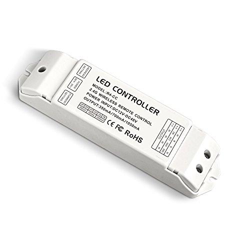 LTRGBW 2.4G Wireless Remote Empfangs-Controller RF Konstantstrom-Empfänger DC12V 24V 48V 350mA 700mA 1050mA für einzelne Farbe CT RGB RGBW RGBWW Runde LED-Panel Licht Bergbau-Beleuchtung (5 Jahre Garantie) (R4-CC CC-Empfänger)