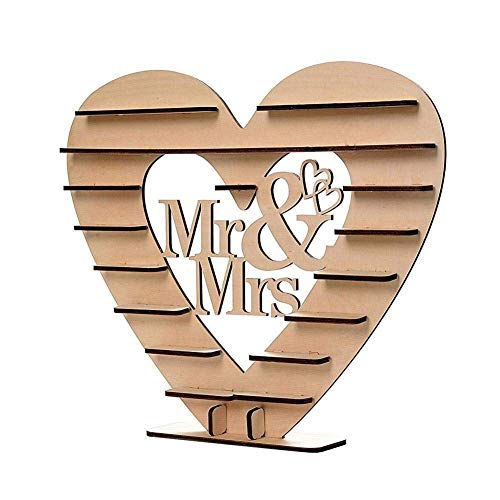 CSPone | Rocher Ferrero Herz Display Ständer Mittelstück Perfekt für Parties, Hochzeiten & Candy Bar, Hölzerner Schokoladen-Ausstellungsstand, Hochzeitsfest Dekoration - 1pcs