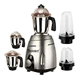 Sunmeet Black Color 750Watts Mixer Grinder with 2 Bullet Jar plus 3 steel 2019 V-Blk