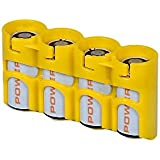 Yellow , Holds 4 Batteries : Storacell By Powerpax SlimLine CR123 Battery Caddy, Yellow, Holds 4 Batteries