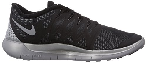 Nike Nike Free 5.0 Flash, Chaussures de running femme Noir (Black/Reflect Silver-Wolf Grey 001)