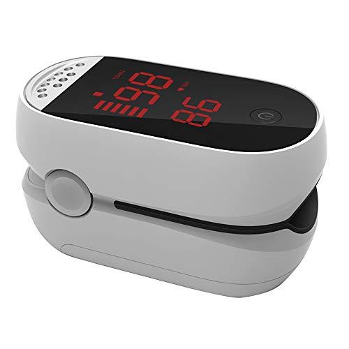 Explopur Pulsoximeter mit Fingerspitze und LED-Anzeige - SPO2-Messung, Blutsauerstoffsättigung und Pulsfrequenzüberwachung - Schwarz, Weiß Optional