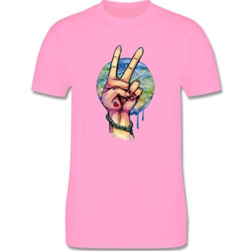 Statement Shirts - World Peace Aquarell - Herren Premium T-Shirt Rosa