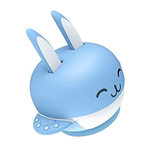 nkind-Kaninchen Saugplatte Saug Schalen zur Babyernährung Set mit Löffel und Gabel Saugplatten Blau ()