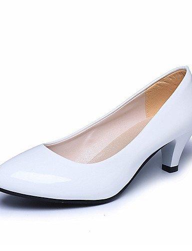 WSS 2016 Chaussures Femme-Mariage / Bureau & Travail / Habillé / Décontracté / Soirée & Evénement-Noir / Rose / Rouge / Blanc / Beige-Gros Talon- pink-us8.5 / eu39 / uk6.5 / cn40