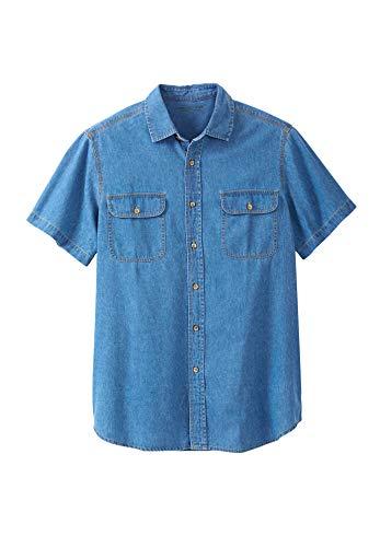 Boulder Utility Shirt (Boulder Creek Herren Big & Tall Short Sleeve Renegade Shirt - Blau - Groß-4X-Large)