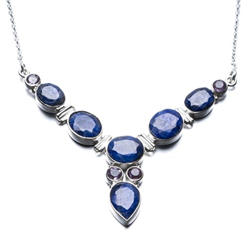 stargemstm-natural-sapphire-and-amethyst-unique-design-925-sterling-silver-necklace-17-1-2