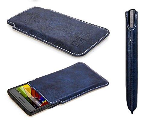 caseroxx Handyhülle für das Mobistel Cynus T8 aus Kunstleder - Schutzhülle für Smartphone (Handy Sleeve in blau)
