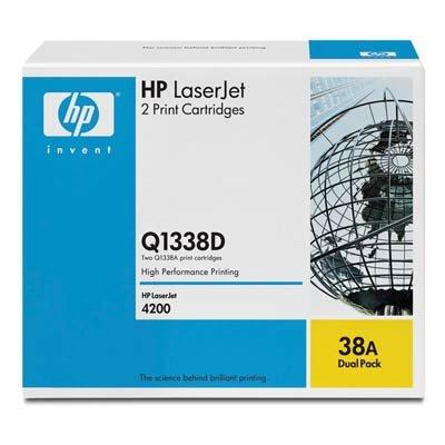 HP LaserJet Q1338A Druckkassetten Doppelpack mit Smart Drucktechnologie/ Farbe: schwarz/ Reichweite: 12000 Seiten/ kompatibel zur LaserJet 4200 Druckerserie - Schwarz, Smart Druckkassette