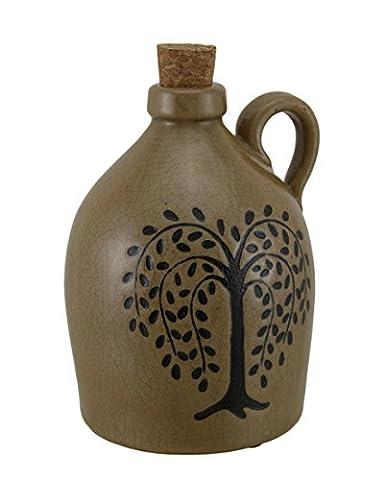 Effet craquelé Porcelaine Willow Tree décoratifs Carafe W/en liège