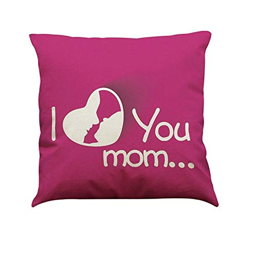 Decorative Pillows Bedroom - I Love You Mom Pillow 43x43cm Bedroom Sofa Home Decoration - Love Pillows Bedroom Decorative Sofa Home Cushion Cover Collection Pillow Bedroom With Letter Stan