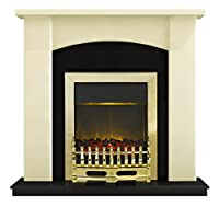 Adam Holden Fireplace Suite in Ivory with Blenheim Fire, 2000 Watt