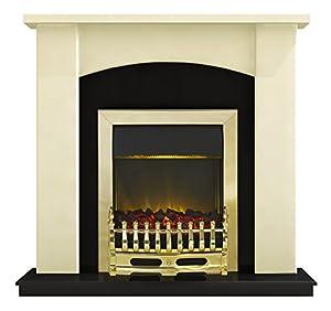 Adam Holden Fireplace Suite in Ivory with Blenheim Fire, 2000 Watt