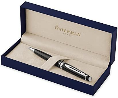 WATERMAN Expert Ballpoint Pen, Medium Point, Point, Point, Dark Marronee with Chrome Trim (S0952280) by Sanford | comfort