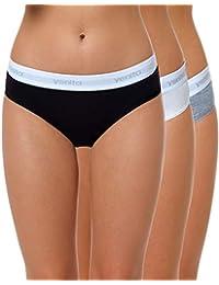 3d1704c75ab124 Yenita 3er Set Damen Underwear Modern-Sports-Collection, Bralette,  Cotton-Bustier